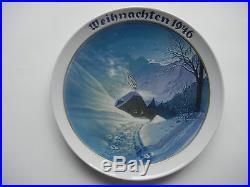 Rosenthal Weihnachtsteller 1946 Weihnachten im Hochtal (meine Art-Nr. 1946-3)