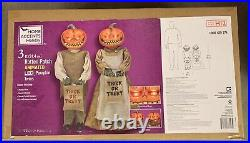 Rotten Patch 3 Ft Halloween Pumpkin Twins Home Depot New In The Box FREE SHIP