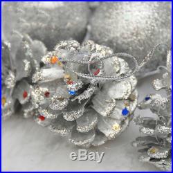 Round Balls & Pine cones Baubles Christmas XMAS Tree Ornament Decor 12 PCS 4CM