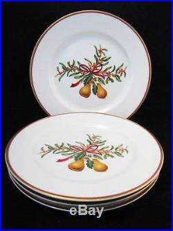 Royal Gallery QUEENSBERRY Christmas Salad Plates / Set of 4 NEW WithLABEL 1991