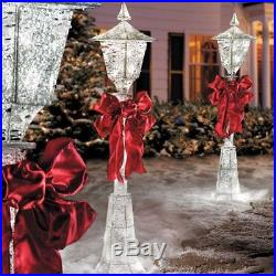 SALE 4′ Lighted Pre Lit Christmas Victorian Lamp Post Outdoor Holiday Yard Decor