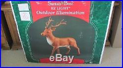 Santas Best Large 43 Reindeer Christmas Blowmold New In Box