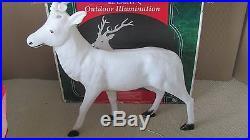 Santas Best Large 43 Reindeer Christmas Blowmold White