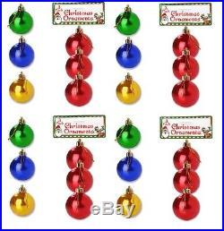SET OF 24 CHRISTMAS ORNAMENT COLORFUL BULB FOR HOLIDAY SEASON HANGING DECORATION