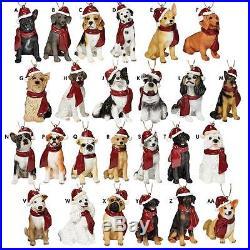 SET OF ALL 25 DOG ORNAMENTS DESIGN TOSCANO dog ornaments holiday bulldog lab