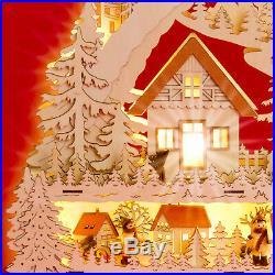SIKORA LB53 XXL Christmas Wooden Illuminated Arch 3D Decoration WINTER VILLAGE