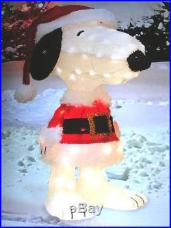 SNOOPY PRE-LIT TINSEL YARD ART PEANUTS CHRISTMAS