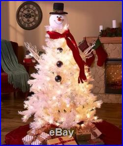 SNOWMAN HEAD TREE TOPPER CHRISTMAS HOLIDAY HOME DECOR
