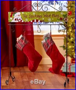 SNOWMAN STANDING STOCKING HANGER HOLDER CHRISTMAS LIVING ROOM HOLIDAY HOME DECOR