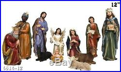 STATUE El Nacimiento / Nativity Set SCULPTURE Complete 12 Inch Brand New