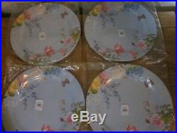 S/4 Pottery Barn Kids Monique Lhuillier Easter Butterfly Charger Plates NWT Pkgd