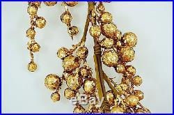Sale! PACK OF 6, 4′ Rich GOLD glitter sparkle holiday garland decor centerpiece