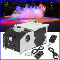 Samger 1500W Low Lying Smoke Fog Machine Dry Ice Hanging DMX Stage Effect+Wheels