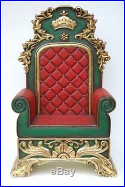 Santa Christmas Throne Large Christmas Decor Red Santa Claus Chair