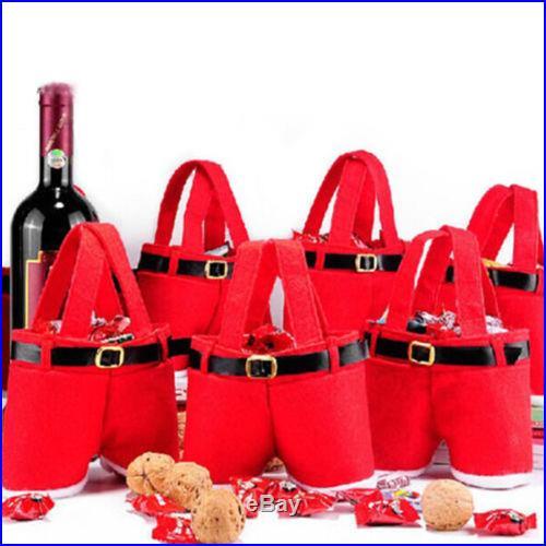 Santa Claus Pants Handbag Xmas Decoration Christmas Candy Bag Christmas Gift