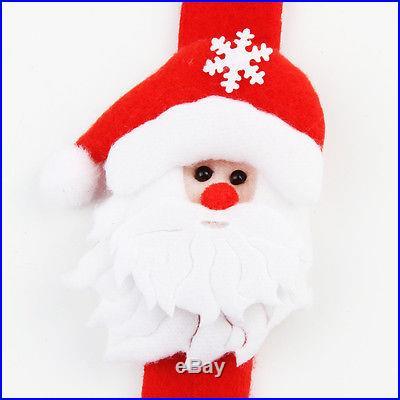 Santa Claus Slap Circle Bracelet Christmas Jewelry Xmas Gift Party Decoration