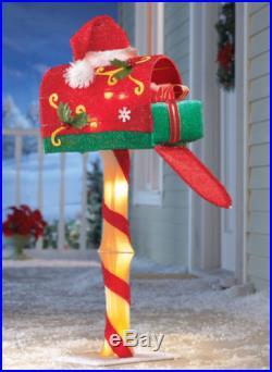 Santa Mail Box Christmas Outdoor Holiday Decoration Holiday Mailbox Decor New