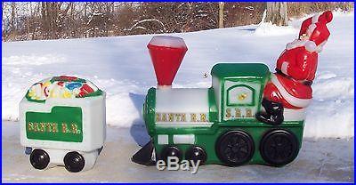 Santa R R Train Blow Mold Jumbo Indoor Outdoor Christmas