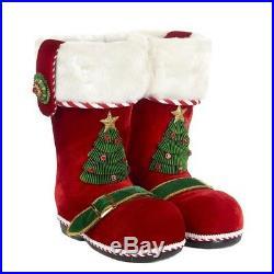 Santa Stiefel, Santa Boots 30cm Katherine's Collection Weihnachtsschmuck