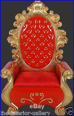 Santa Throne Chair Christmas Decor Red and Gold Santa Throne Santa Chair