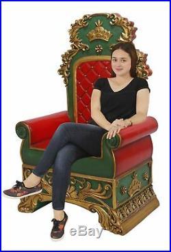 Santa Throne Chair Christmas Decor Red and Green Santa Chair
