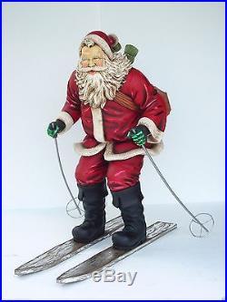 Santa on Ski Santa Claus Statue Santa Claus Decor Christmas Decor 5 FT