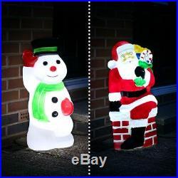 Santa or Snowman LED Blow Mould Christmas Figure Character Decoration