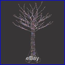 Santa's Best 6 ft. Pre-Lit LED Deciduous Tree Sculpture Color Changing Light