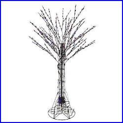 Santa S Best 6 Ft Pre Lit Led Deciduous Tree Sculpture