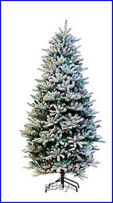 Santa's Best 7.5′ Flocked Balsam Fir RGB 2.0 Green Christmas Tree H208527