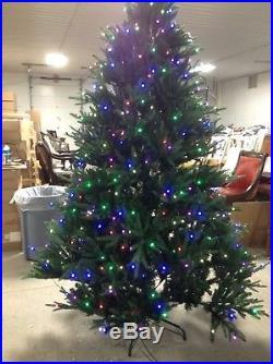 Santa's Best 7.5′ LED Pre-lit Splendor Spruce Smart Tech Light Christmas Tree