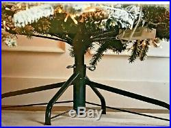 Santa's Best Starry Light 7.5′ Flocked Multi-Function Microlight Tree Multi Xmas