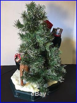 Santa with Reindeer & Christmas Tree Animated Musical Lights Holiday Creations'96