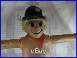 Scarecrow union blow mold yard pillar pedestal lawn xmas holiday RARE