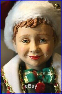 Schöner Katherine´s Collection Elf Wichtel Weihnachtself Junge Puppe Figur 50cm