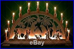Schwibbogen Christi beidseitig 16 Kerzen 67 x 40 cm Original Erzgebirge 01006