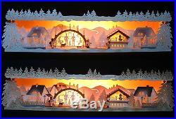 Schwibbogen-Erhöhung NEUHEIT 2017 Weihnachtsstimmung 79cm Unterbank Erzgebirge