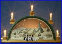 Schwibbogen Sternenhimmel über Seiffen Lichterbogen Kirche Erzgebirge Kolbe Neu