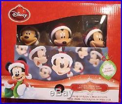Set 8 Disney MICKEY MOUSE Santa Hat Blinking Christmas String Lights