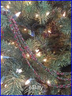 Set Of 41 Strands- Frontgate Christmas Holiday Red/green Bead Garland Swags