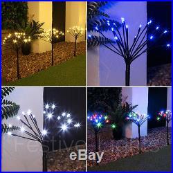 Set Of 5 50cm Outdoor Garden Christmas Sparkler Decoration Path Stake Led Lights