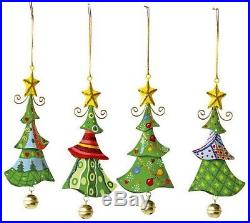 Set Of Small Foot Company 5147 Hanging Christmas Tree Decorations Metal 4 Home