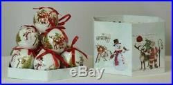 Set of 14 Matching Christmas Baubles Santa & Snowman, In Presentation Box #NG