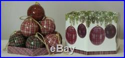 Set of 14 Matching Christmas Baubles Tartan Design, In Presentation Box #NG