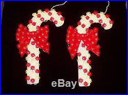 Set of 2 Indoor/Outdoor 16 Lighted Candy Cane Christmas Decorations
