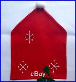 Set of 2 Santa Hat Christmas Chair Covers Christmas Gift Bag New