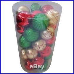 Set of 41 Green Gold Red Shatterproof Christmas Ornament Tree Holiday Decor New