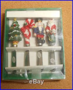 Set of 4 Christmas Spreaders New Tree Nutcracker Santa Candycane