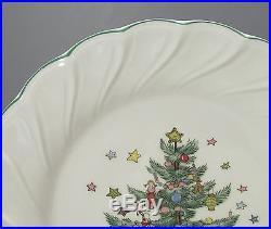 Set of 4 Nikko Japan Happy Holidays Dessert Plates Christmas Tree Design