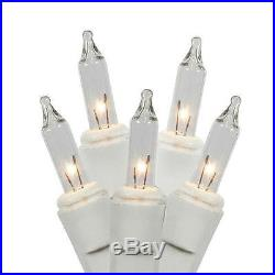 Set of 50 Clear Mini Twinkle Christmas Lights White Wire New